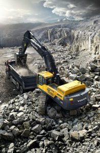 Star picture of the EC480D crawler excavator for A4 vertical format
